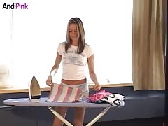 Time to watch how Andi Pink is ironing her clothes