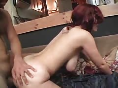Busty emo babe rides on top of a horny man