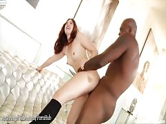 Jodiu Taylor pounded in ass by bbc and cummed on