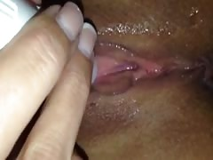 Close up of wife cumming with a pocket rocket