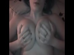 Busty Chav Gets Cum on Her Tits