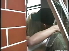 Blonde shemale gets an ass pounding