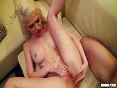 Cutie girlfriend is touching her clit and pussy during a deep penetration