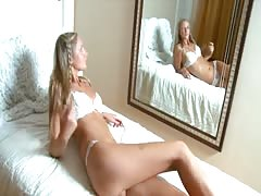 Young hot blondie daughter with a perfect body