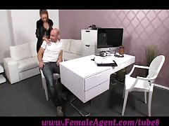 FemaleAgent. Casting creampie for teasing agent