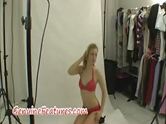 Erotic photoshoot with real czech blonde