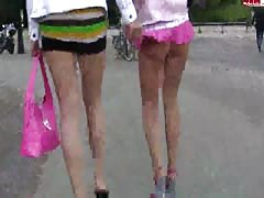 Just look at their long legs and short skirts on cam