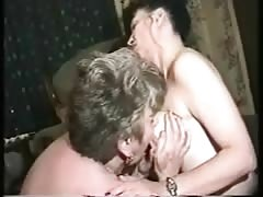 Grandpa Albert 62 years old with MILF and young woman