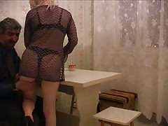 Sweet Russian blonde is getting pounded in her tight snatch