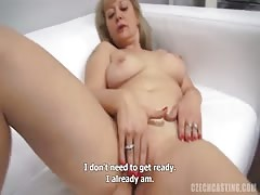 Slutty blonde milf being fucked hard at Czech Casting