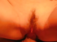 Trimmed muff of a Russian girlfriend is being fucked in the close-up