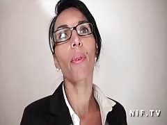 Gorgeous french milf in lingerie hard banged in pov